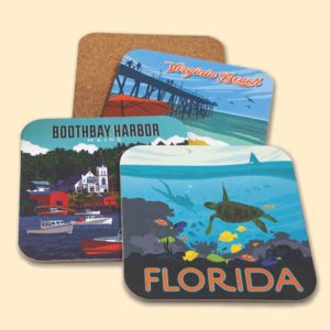 Tourist Courts Coasters from Pumpernickel Press